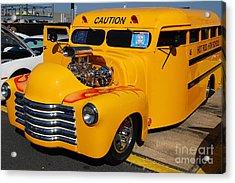 Hot Rod School Bus Acrylic Print