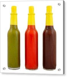 Hot Sauce Acrylic Print by Jim Hughes