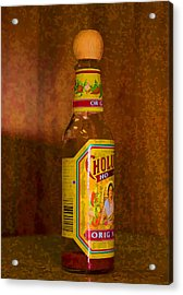 Hot Sauce Two Acrylic Print by Cathy Anderson