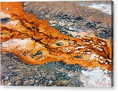 Hot Springs Mineral Flow Acrylic Print