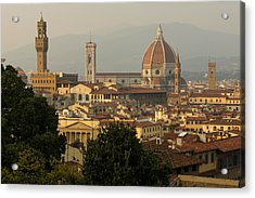 Hot Summer Afternoon In Florence Italy Acrylic Print by Georgia Mizuleva