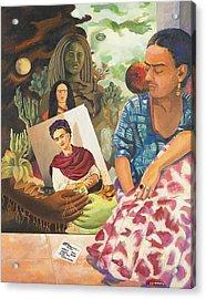 Hot Ticket Frida Kahlo Meta Portrait Acrylic Print