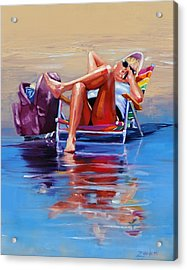 Hot Topic Two Acrylic Print by Laura Lee Zanghetti