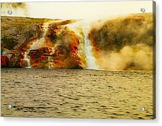 Hot Water Pouring Acrylic Print by Jeff Swan