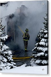 Hot Work On A Cold Day Acrylic Print