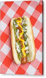Hotdog On Picnic Table Acrylic Print