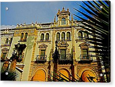 Hotel Alfonso Xiii - Seville Acrylic Print by Juergen Weiss