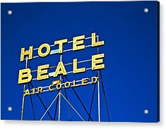 Acrylic Print featuring the photograph Hotel Beale by Gigi Ebert