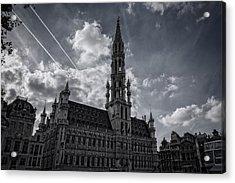 Hotel De Ville Brussels Acrylic Print by Joan Carroll