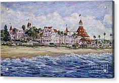 Hotel Del Beach Acrylic Print