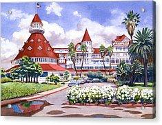 Hotel Del Coronado After Rain Acrylic Print by Mary Helmreich