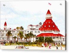 Hotel Del Coronado In Coronado California 5d24256wcstyle Acrylic Print