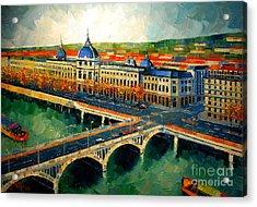 Hotel Dieu De Lyon II Acrylic Print by Mona Edulesco