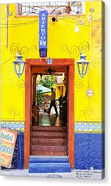 Acrylic Print featuring the photograph Hotel Estancia - Ajijic - Mexico by David Perry Lawrence