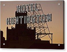 Hotel Huntington Acrylic Print by Larry Butterworth