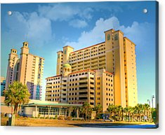 Hotel In Downtown Myrtle Beach Acrylic Print