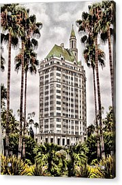 Hotel In Long Beach Acrylic Print