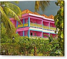 Hotel Jamaica Acrylic Print by Linda Bianic