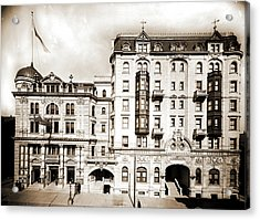 Hotel Kernan & Maryland Theatre, Baltimore Acrylic Print by Litz Collection