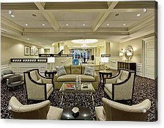 Hotel Lobby  Acrylic Print by M Cohen