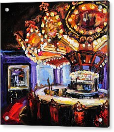 Hotel Monteleone Bar Acrylic Print by Carole Foret