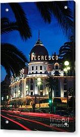 Hotel Negresco Acrylic Print by Inge Johnsson