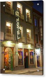 Acrylic Print featuring the photograph Hotel Republica by John  Bartosik