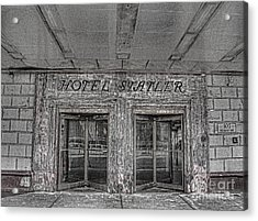 Acrylic Print featuring the photograph Hotel Statler Buffalo Ny by Jim Lepard