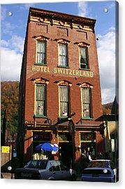 Hotel Switzerland In Jim Thorpe Pa Acrylic Print by Jacqueline M Lewis