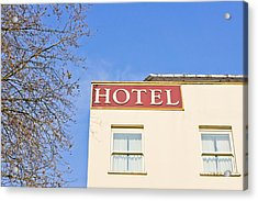Hotel Acrylic Print by Tom Gowanlock