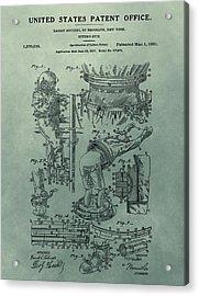 Houdini's Diver's Suit Patent Illustration Acrylic Print