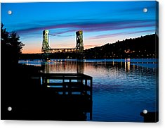 Houghton Bridge Sunset Acrylic Print