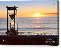 Hourglass Sunrise Acrylic Print by Colin and Linda McKie