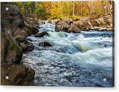 Housatonic River Autumn Acrylic Print by Bill Wakeley