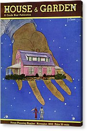 House & Garden Cover Illustration Of A Giant Hand Acrylic Print