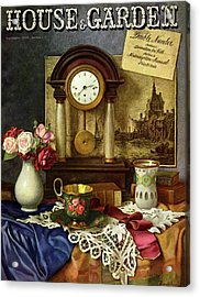 House & Garden Cover Illustration Of A Still Life Acrylic Print by Robert Harrer