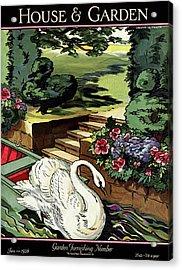 House & Garden Cover Illustration Of A Swan Acrylic Print