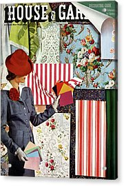 House & Garden Cover Illustration Of A Woman Acrylic Print