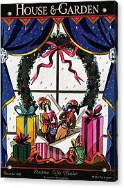 House & Garden Cover Illustration Of Christmas Acrylic Print