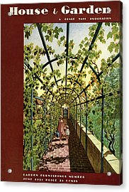 House & Garden Cover Illustration Of Young Girls Acrylic Print