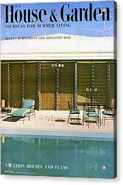 House & Garden Cover Of A Swimming Pool At Miami Acrylic Print