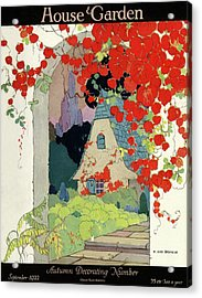 House And Garden Autumn Decorating Number Acrylic Print by H. George Brandt