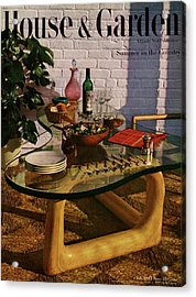 House And Garden Cover Featuring Brunch Acrylic Print by John Rawlings
