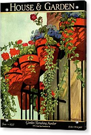 House And Garden Garden Furnishing Number Cover Acrylic Print