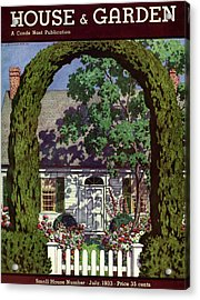 House And Garden Small House Number Acrylic Print