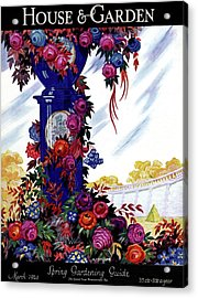 House And Garden Spring Gardening Guide Cover Acrylic Print