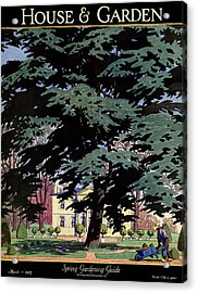 House And Garden Spring Gardening Guide Cover Acrylic Print by Pierre Brissaud