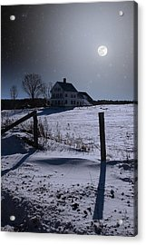 House At Night Acrylic Print