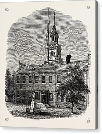House At Philadelphia In Which The First Congresses Acrylic Print by American School