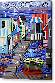 House Boats For Sale Acrylic Print by Anthony Falbo